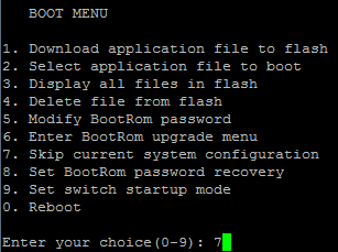 HP v1910 - Boot Menu (1)