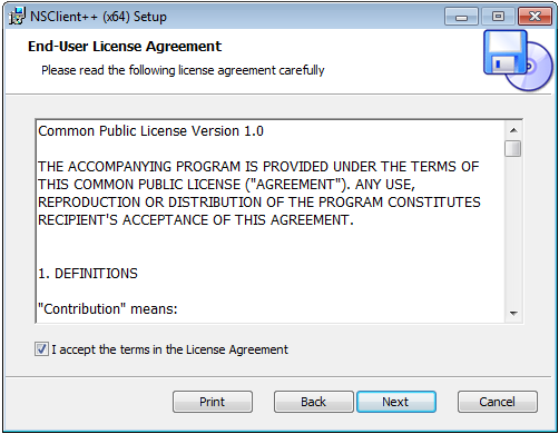 NSClient++ End-User License Agreement