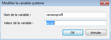 Variable d'environnement Windows 7