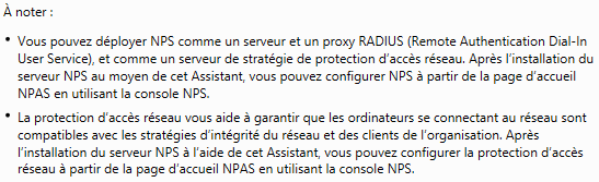 Informations sur NPS