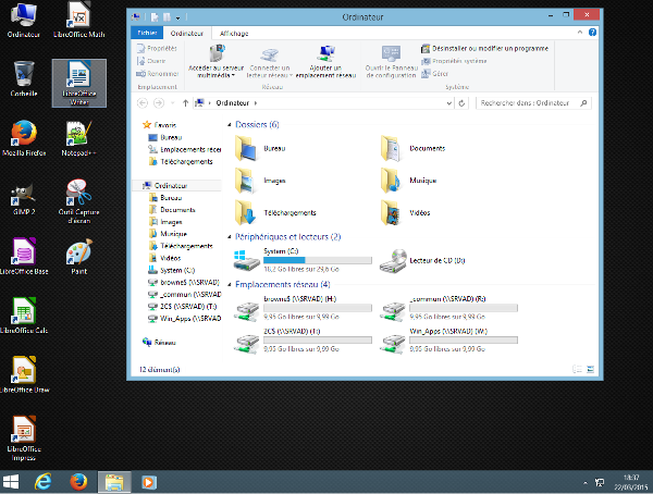 Partie xii client windows 8 x for Bureau windows 8