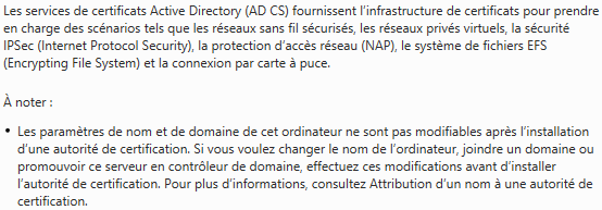 Introduction sur les Services de certificats Active Directory