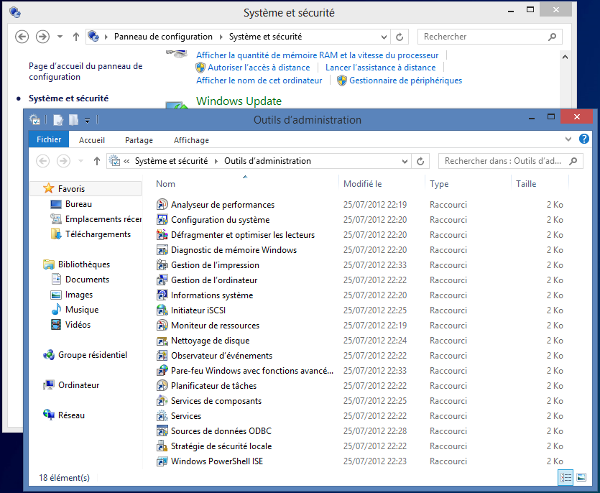 Windows 8 - Outils d'administration