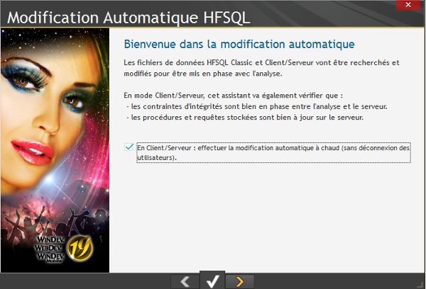 Modification automatique HFSQL 1