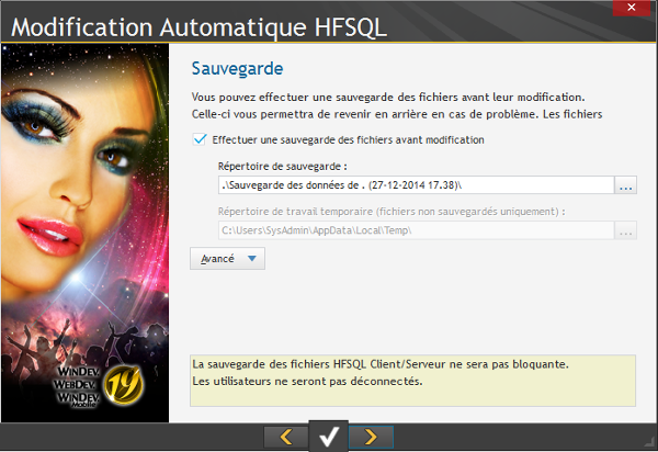 Modification automatique HFSQL 4