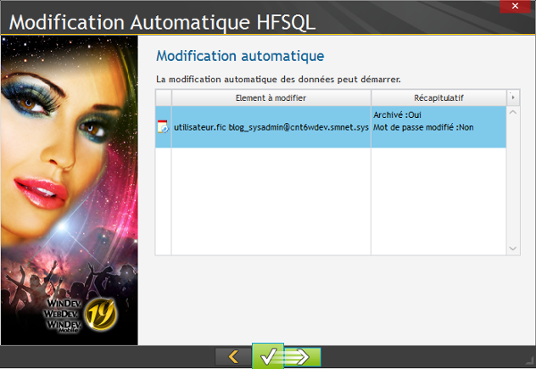 Modification automatique HFSQL 6